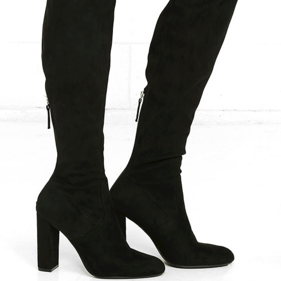 e5ec2310073 Steve Madden Emotions Over the Knee Suede Boots. M 5ad907733b16088305a1fe26